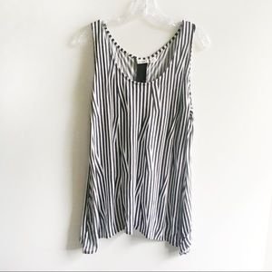 Cato tank top black white striped sleeveless